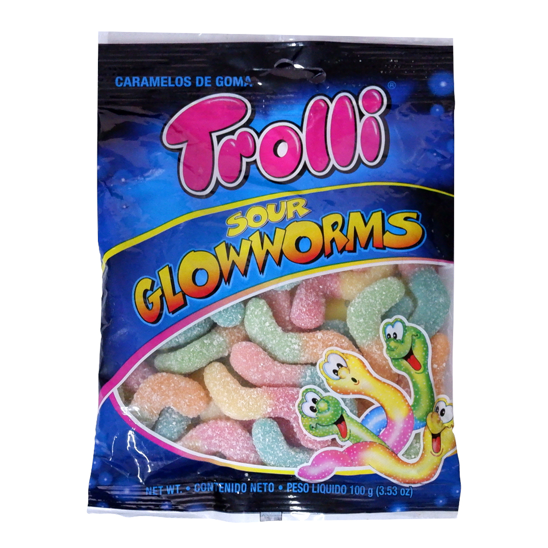Trolli Sour Glowworms 100g