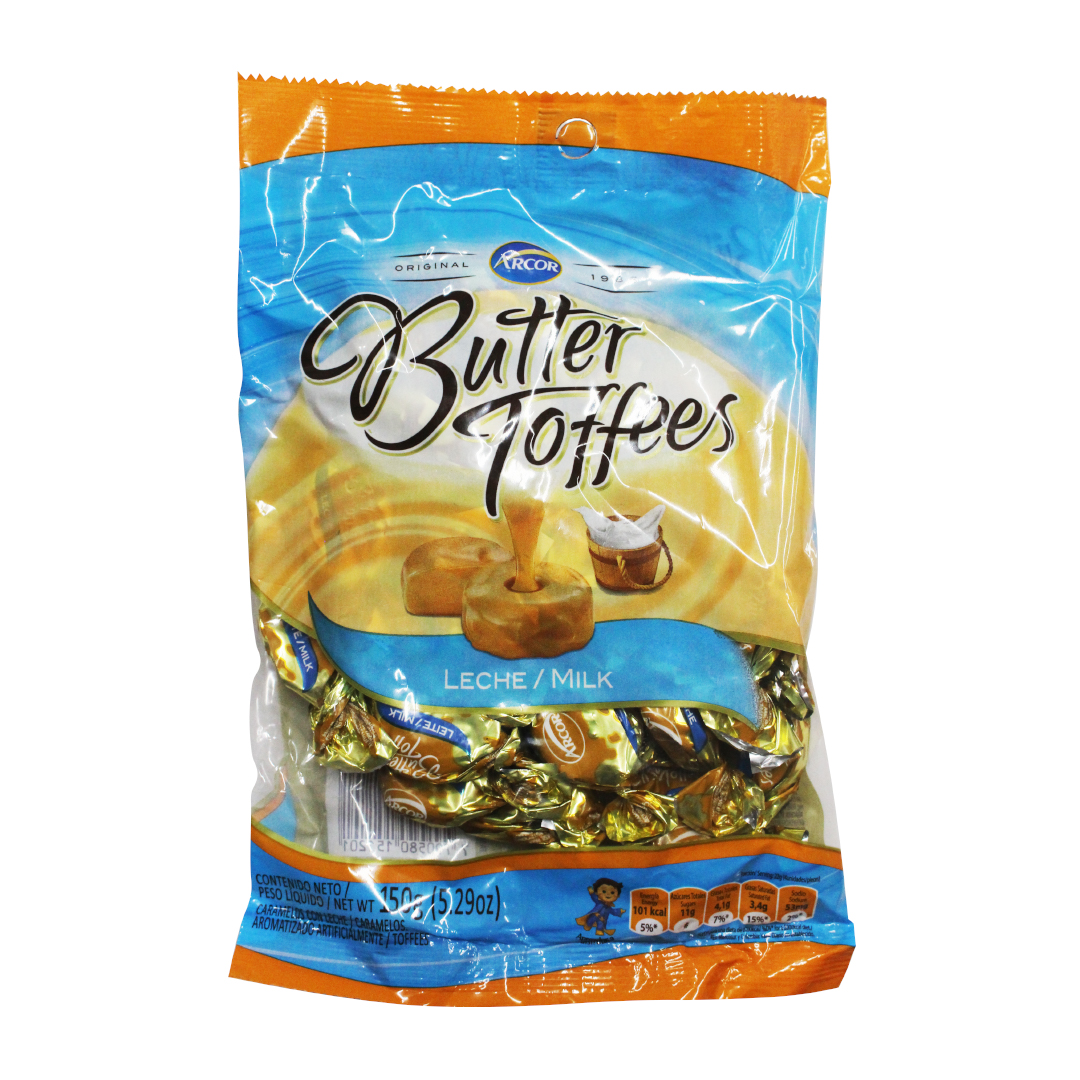 Arcor Butter Toffees Milk 150g