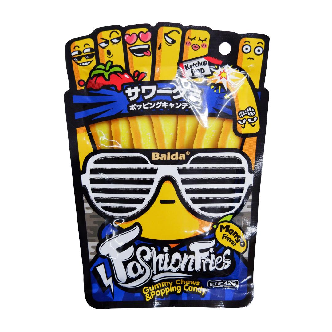Baida Fashion Fries Gummy Chews Popping Candy 42g
