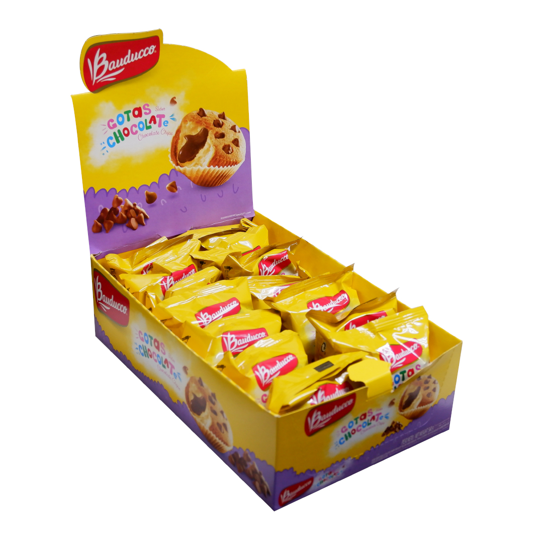 Bauducco Gotas Vanilla Flavored Cake with Chocolate Flavored Filling 40g
