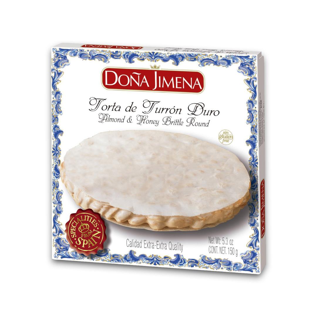 Doña Jimena Almond and Honey Brittle Round 150g