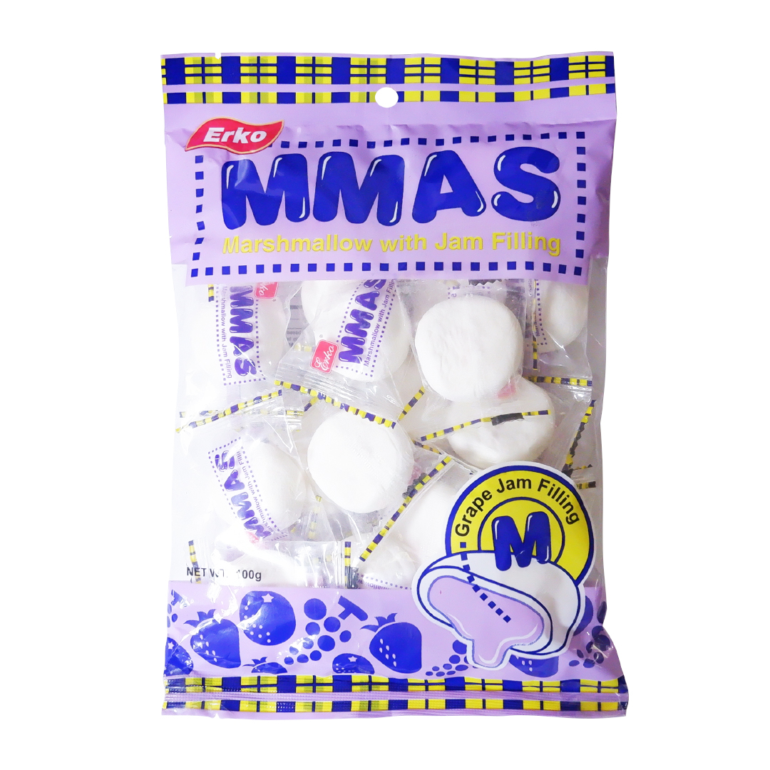 Erko MMAS Marshmallow with Jam Filling Grape 100g