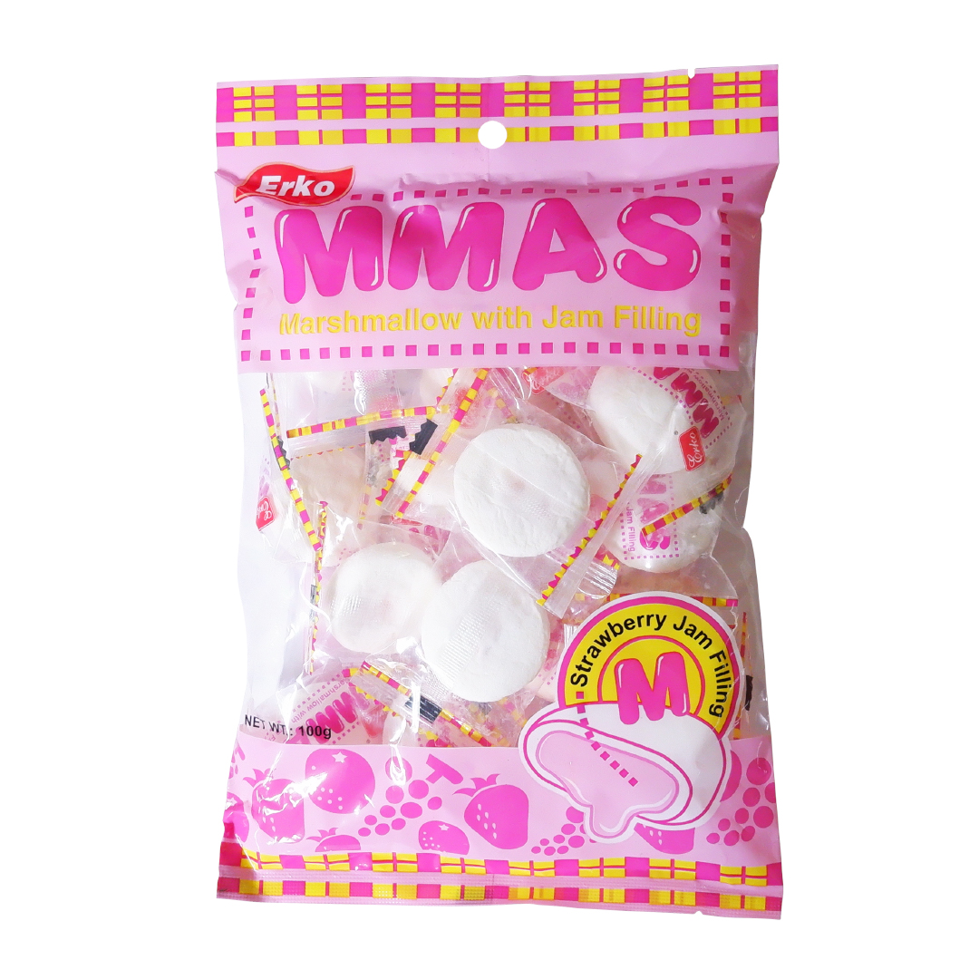 Erko MMAS Marshmallow with Jam Filling Strawberry 100g