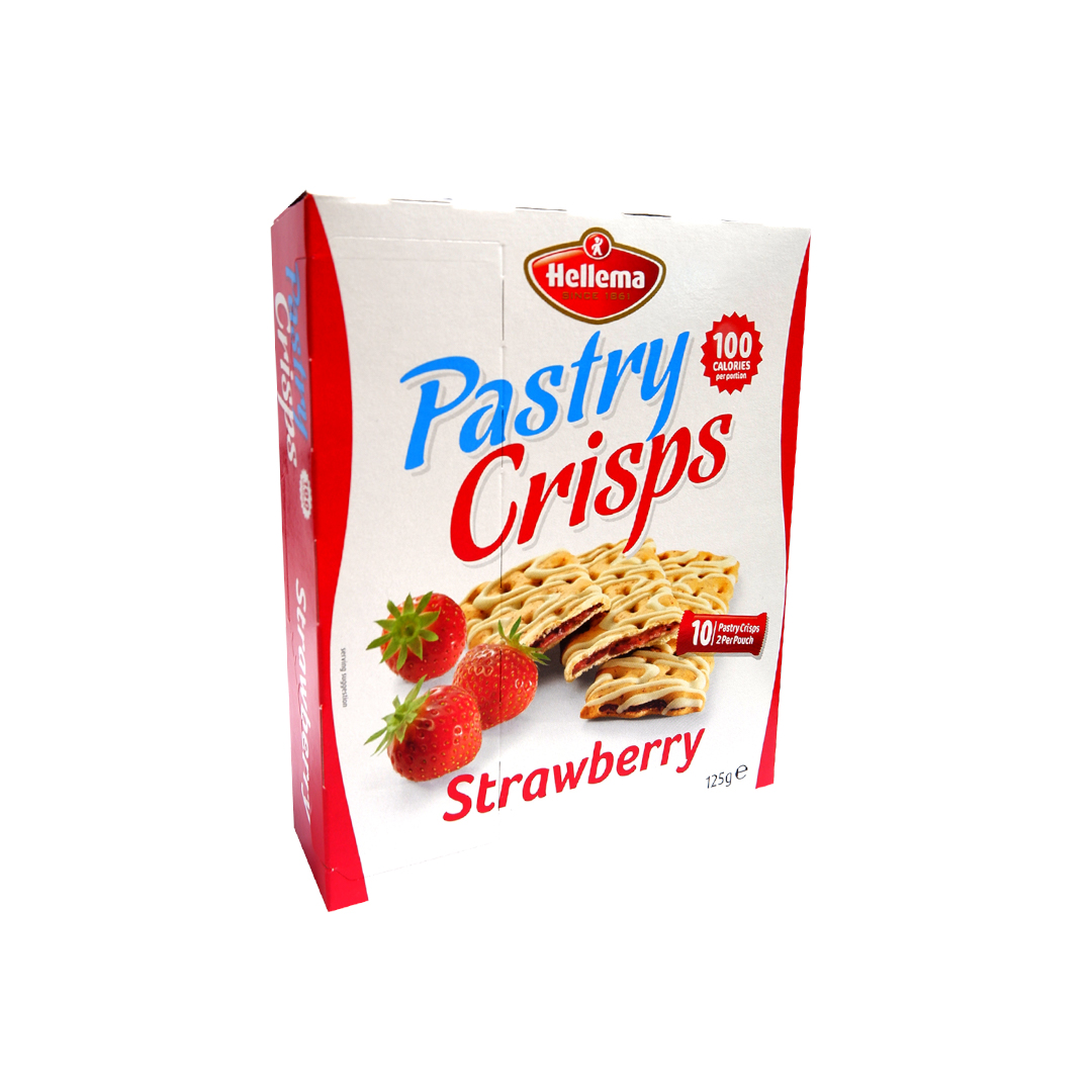 Hellema Pastry Crisps Strawberry 125g