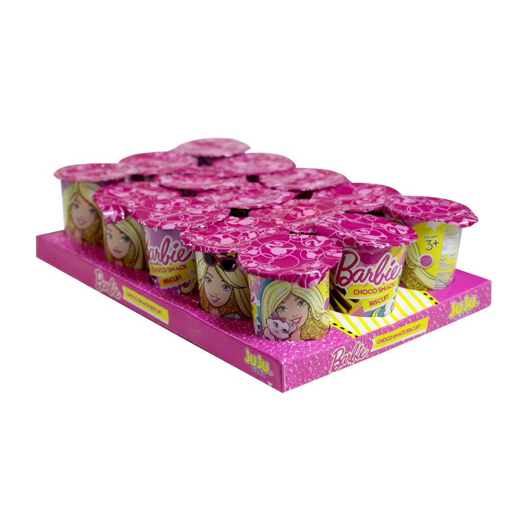 Juju Choco Snack with Chocolate Cream 8g Barbie