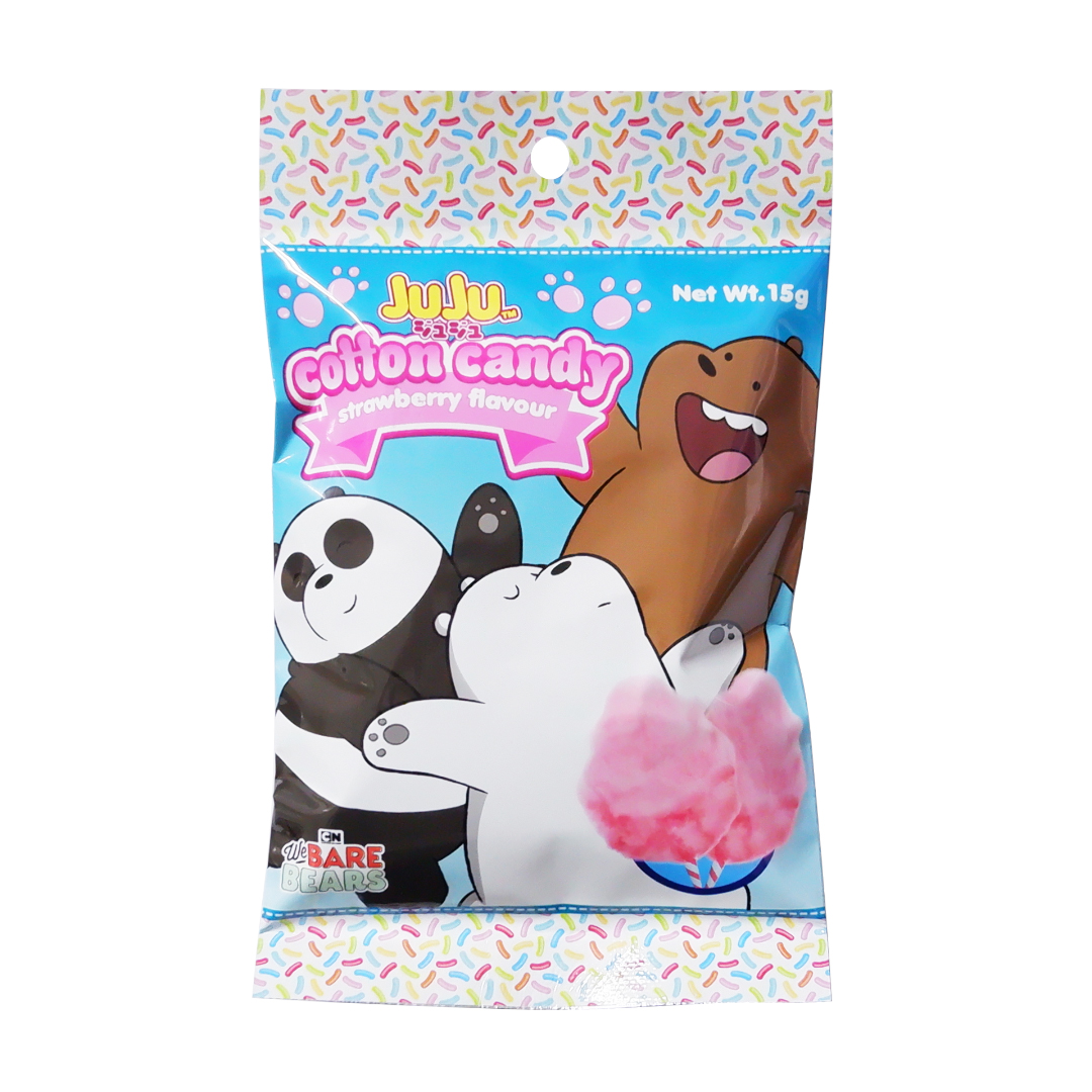 Juju Cotton Candy Strawberry Flavor 15g We Bare Bears
