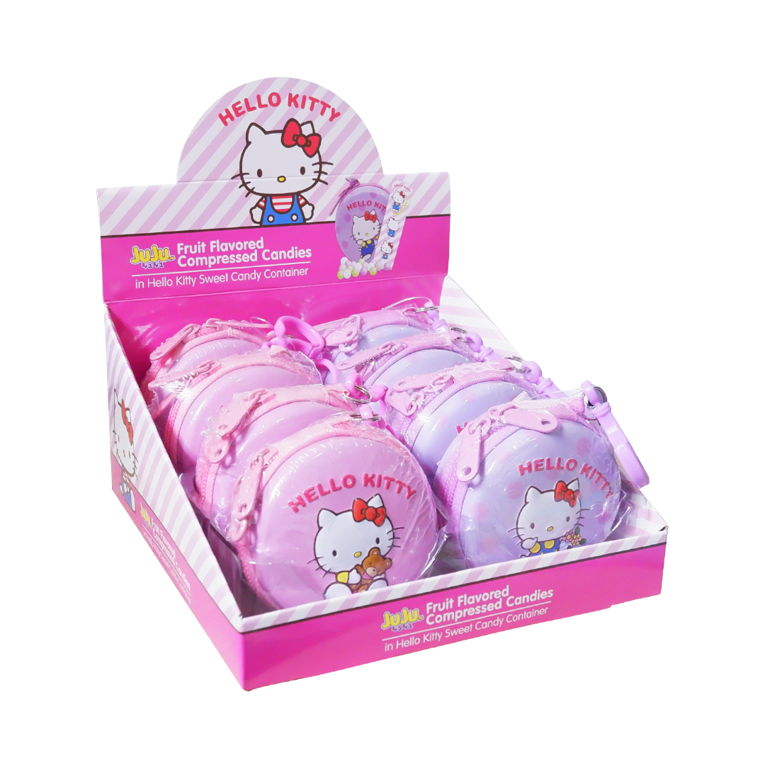 Juju Fruit Flavored Compressed Candies in Hello Kitty Container with Surprises 10g