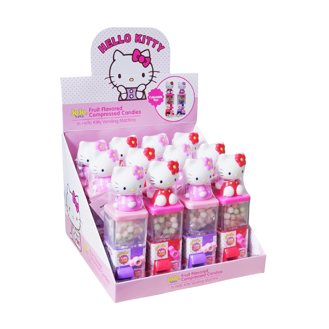 Juju Fruit Flavored Compressed Candies in Hello Kitty Vending Machine 15g