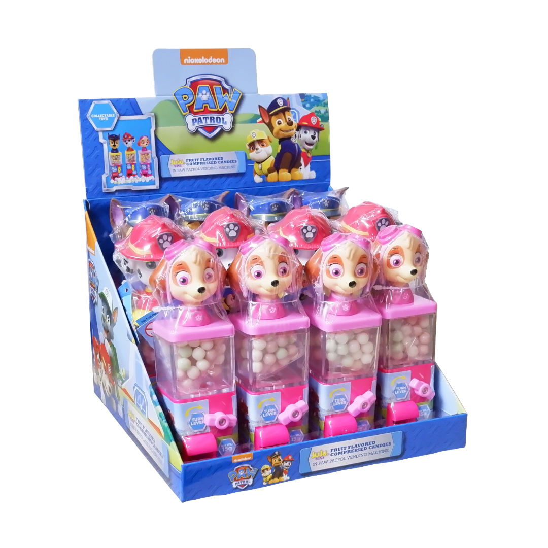 Juju Fruit Flavored Compressed Candies in Paw Patrol Vending Machine 15g