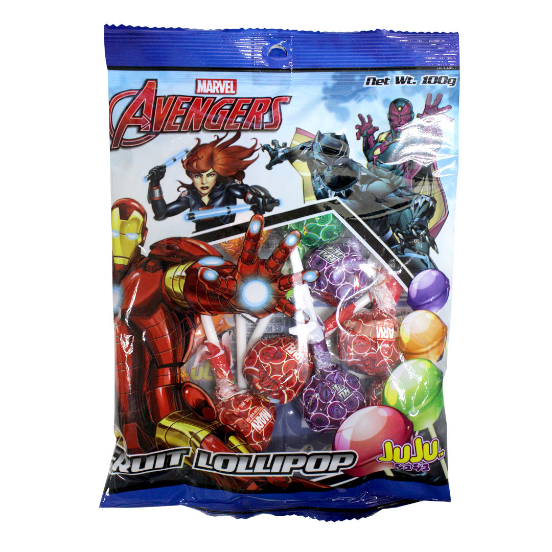 Juju Fruit Lollipop 100g Avengers
