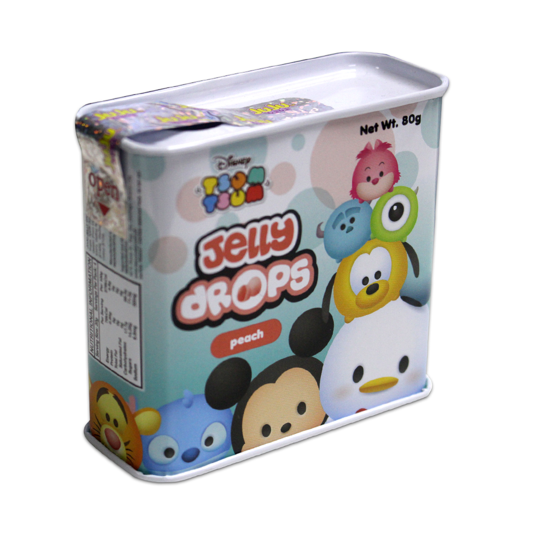 Juju Jelly Drops Peach 80g Tsum-Tsum