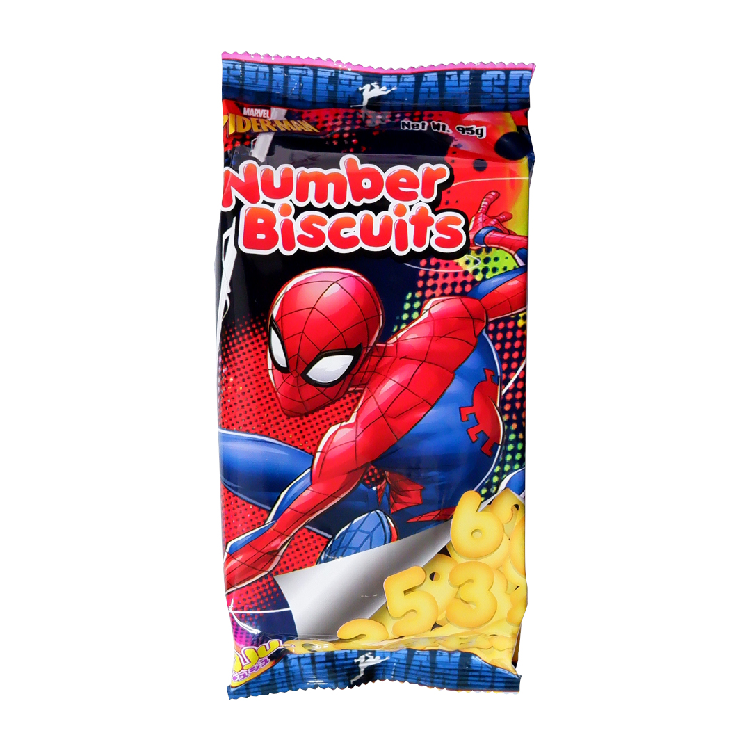 Juju Number Biscuits 95g Spider-Man