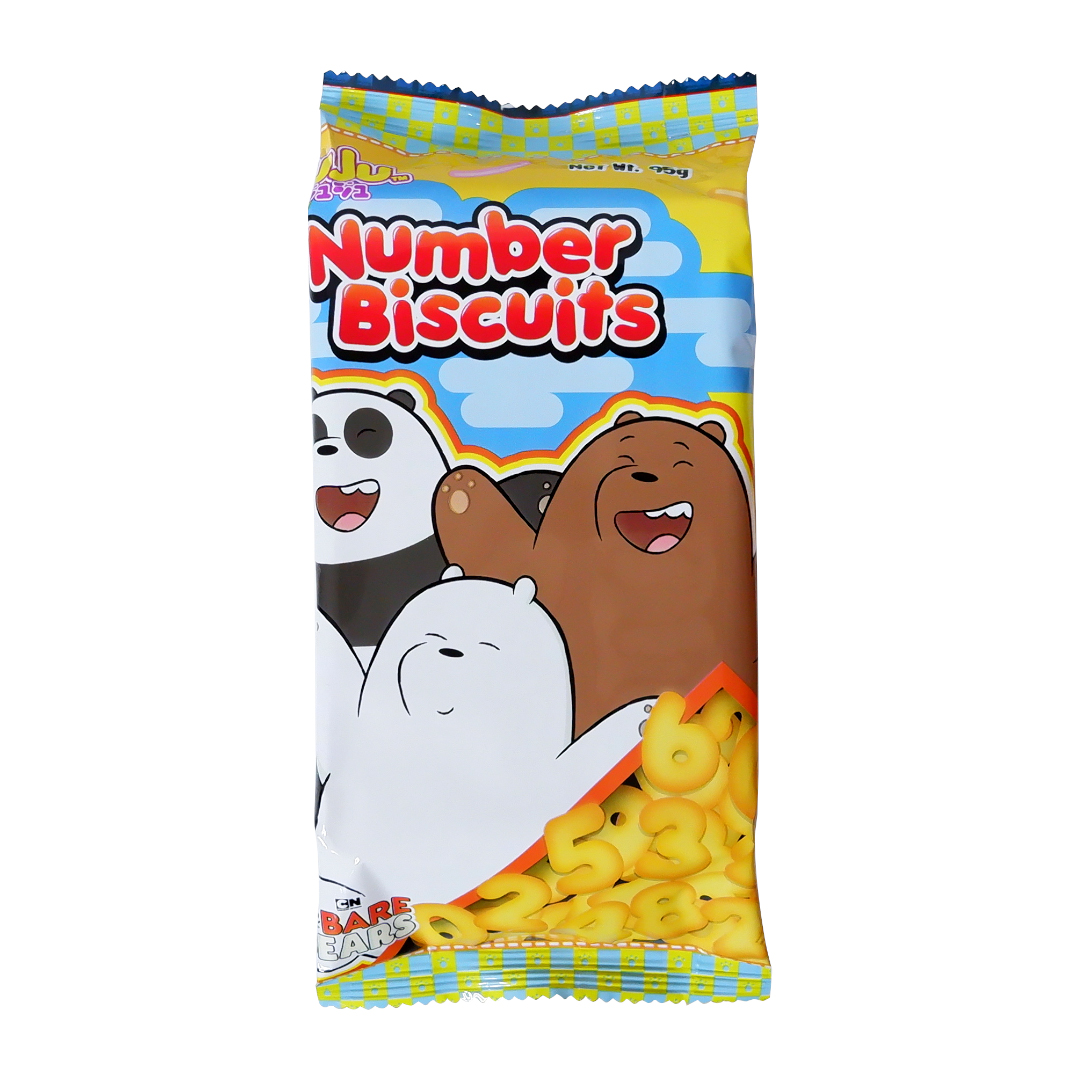 Juju Number Biscuits 95g We Bare Bears