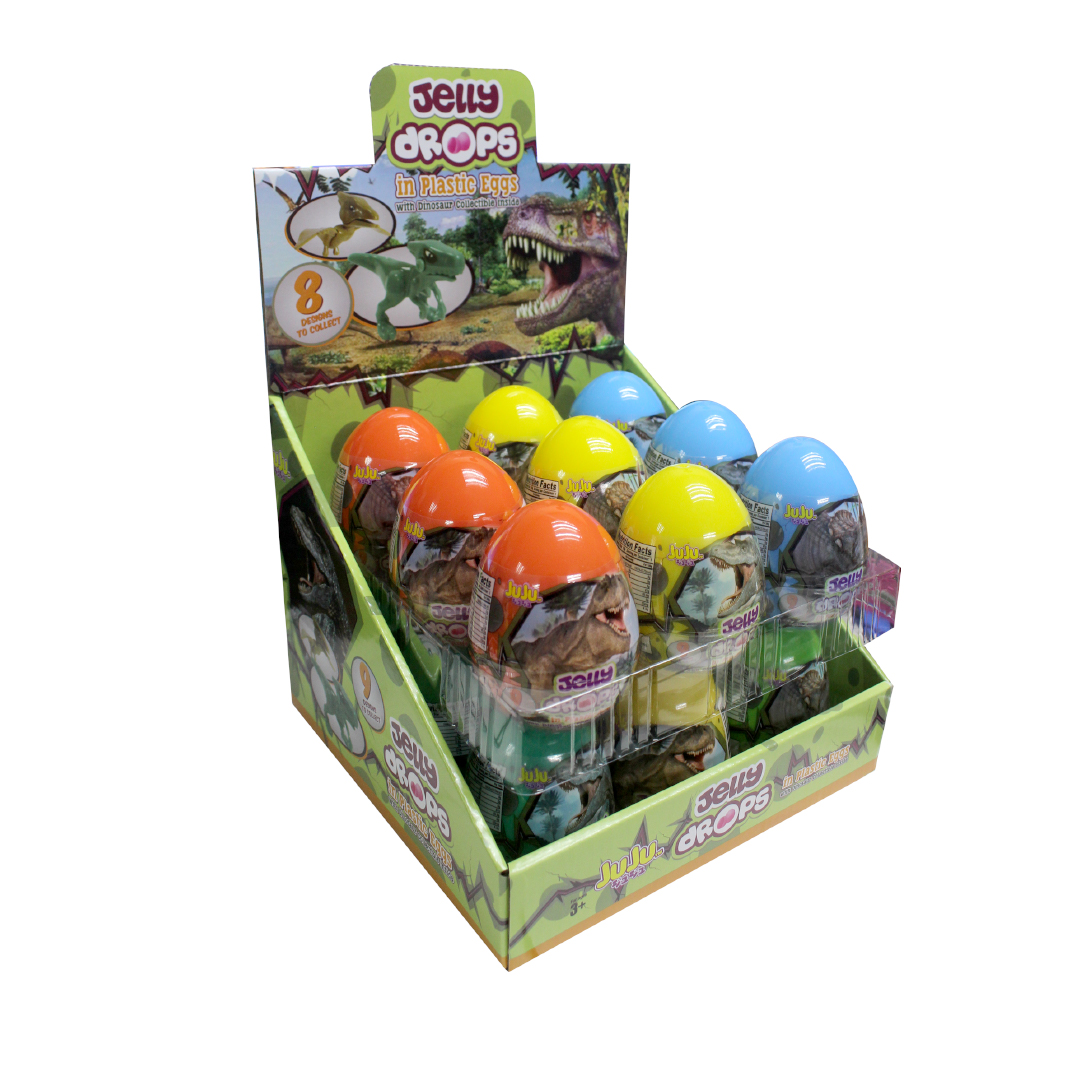 Juju Strawberry Jelly Drops in Plastic Eggs 10g - Dinosaur