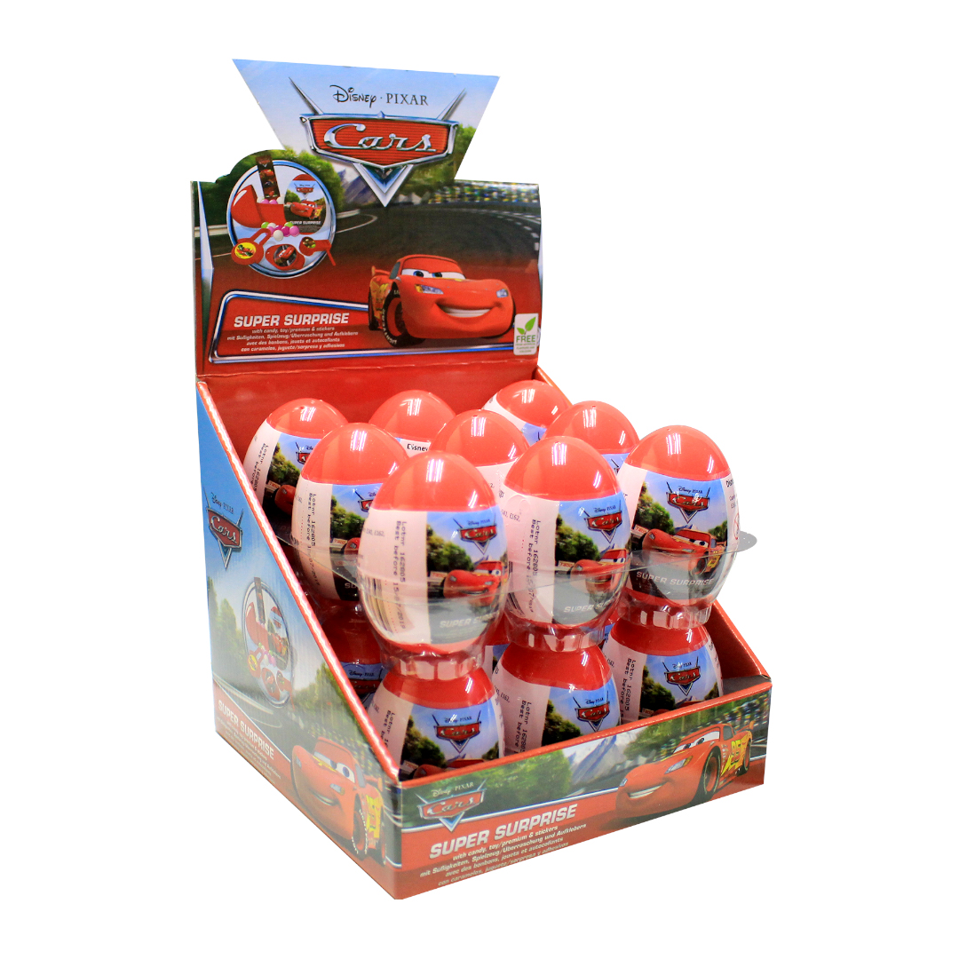 Surprise Eggs with Sweet and Surprises Inside 10g - Dinsey Pixar Cars