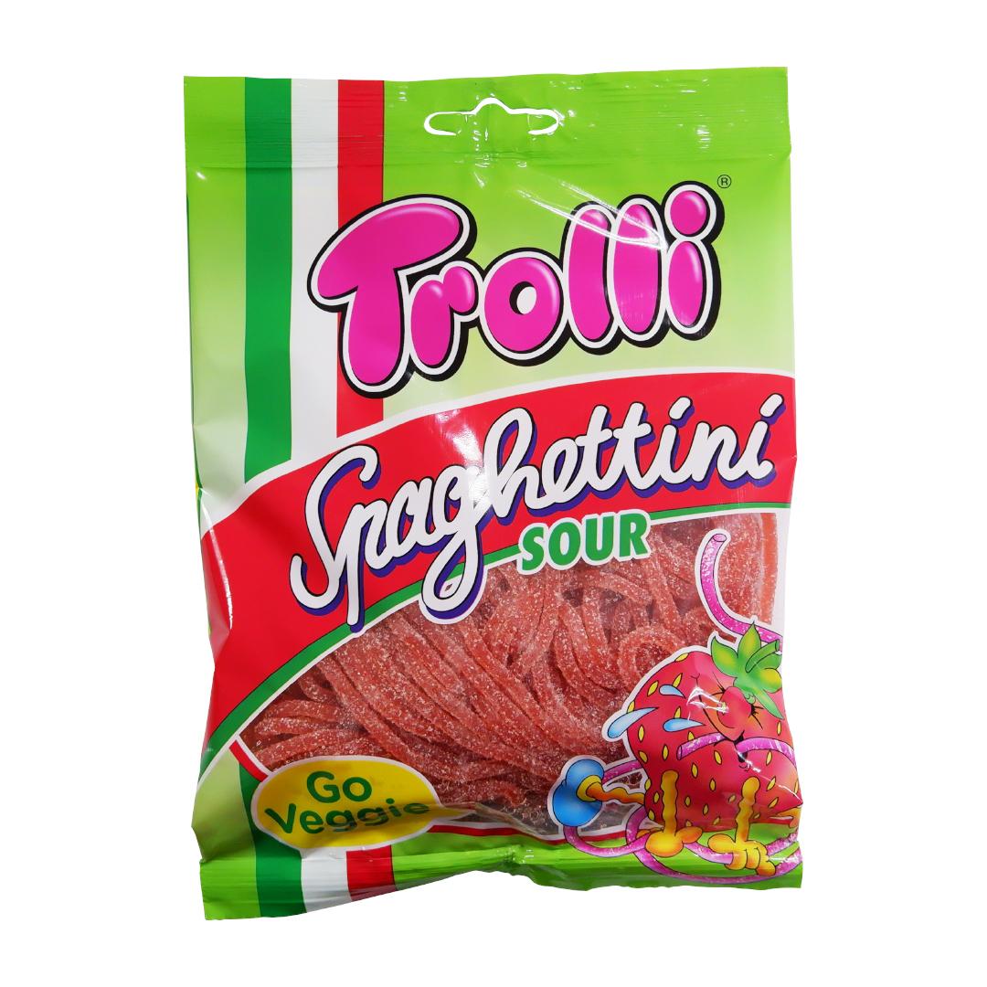 Trolli Spaghettini Sour Strawberry 100g